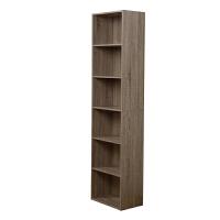 [当当自营]慧乐家 书柜书架 鲁比克L40六层书柜 组合柜子层架储物柜收纳柜置物柜 法国香樟木色11306-3