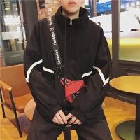 新品2018/春季新款男士立领加绒夹克韩版青少年休闲拉链开衫学生
