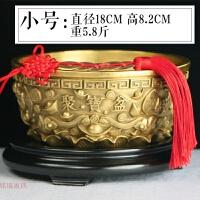 铜聚宝盆摆件纯铜实心铜风水招财礼品办公室客厅中式摆件家居饰品