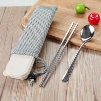 创意可爱星座筷子勺子套装 304不锈钢便携餐具三件套学生