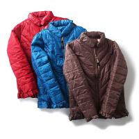 外套女秋冬装 百搭基础纯色拉链长袖羽绒服棉衣女