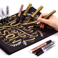 日本樱花油漆笔金色签字笔防水不掉色手绘高光白色绘画笔银色补漆电镀笔签名马克笔明星专用签到油性记号笔