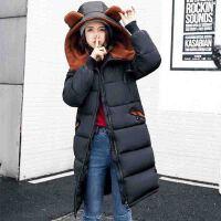 保暖大衣羽绒外套 孕妇装冬装韩版宽松中长款上衣潮妈