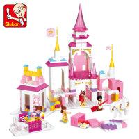 拼装积木儿童拼插玩具城堡塑料模型女孩6岁或以上