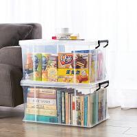 Jeko透明收纳箱塑料加厚储物箱儿童玩具收纳盒特大号衣服整理箱子 【长方形直角收纳箱*环保材质】
