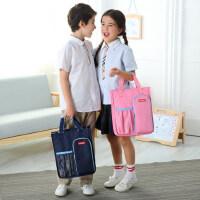 小学生手提袋拎书袋补习包学习包装书袋上学 a4文件袋拉链 大容量资料袋拉链袋简约美术袋作业袋男女孩学生用