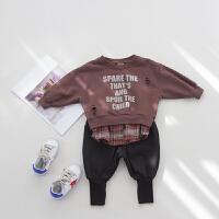 男童长袖卫衣春装新款童装儿童宝宝套头小童上衣童装
