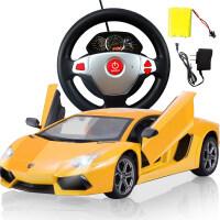 兰博基尼遥控车充电汽车儿童玩具车男孩4岁男童2-3-5-6岁生日礼物