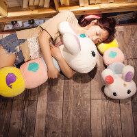 毛毛虫变身兔子大抱枕靠垫可爱毛绒儿童床头靠垫靠枕睡觉枕头公主