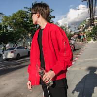 男士春季飞行员夹克韩版潮流棒球服修身帅气风外套学生衣服