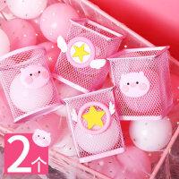 粉色笔筒创意时尚可爱学生桌面笔桶收纳盒女ins简约笔插大容量圆形放笔的收纳盒卡通网红儿童桌面摆件方形