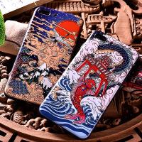 iphone7plus手机壳苹果x仙鹤8中国风6s情侣iphonex保护套全包彩绘浮雕