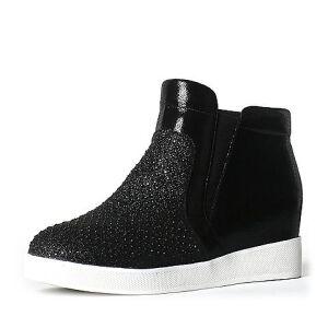 Teenmix/天美意专柜同款羊皮/纺织品女短靴6R140DD6