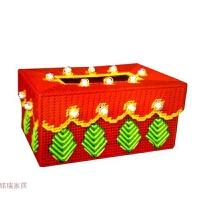 3D十字绣客厅印花钻石画手工树立体绣纸巾盒收纳盒毛线绣抽纸盒