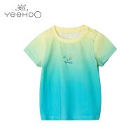 【直降】英氏男童夏季T恤撞色新款 儿童短袖t恤男宝宝上衣172295