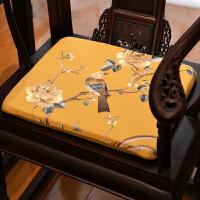椅子坐垫古典实木餐椅垫夏季亚麻透气仿古垫子