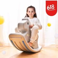 木马摇摇马 儿童小 宝宝大号加厚1-2周岁生日礼物骑马玩具 奥童 萌灰摇摇马
