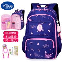 迪士尼儿童书包小学生4-6年级初中女童轻便双肩包大容量背包女孩