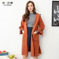 2017秋冬季新款韩版宽松中长款喇叭袖毛衣长袖针织开衫加厚外套女