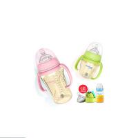 硅胶 婴儿奶瓶PPSU耐摔宽口径宝宝带手柄吸管