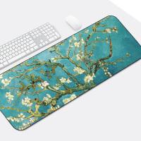 游戏鼠标垫锁边中国风可爱兰亭序励志笔记本电脑办公桌垫