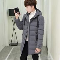 男士2019新款冬季外套棉衣中长款韩版修身棉袄男装加厚羽绒棉服