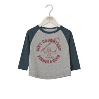 【专区2件2折:39元】2020春季新款中小童时尚卫衣男童卡通图案上衣潮儿童外出个性棉衣服