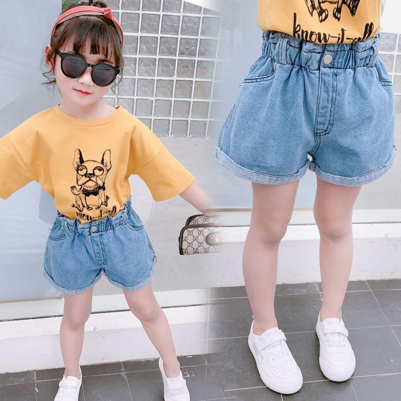 【到手价:58元】童装2020夏季新款女童单扣牛仔短裤中大童时尚牛仔裤儿童裤子