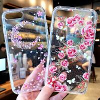 苹果7手机壳iPhone6s透明壳8p镶钻水钻6splus浮雕软套闪粉闪耀x潮牌全包边个性新款创意时尚网红女六七八唯美