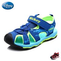 迪士尼凉鞋2017年夏季新款男童鞋小童包头沙滩鞋学生鞋运动凉鞋潮