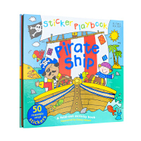 【全店300减100】进口儿童读物 英文原版绘本 贴纸玩具书 Sticker Playbook - Pirate Shi