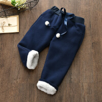 冬装长裤儿童外穿裤女童装冬季新款休闲女宝宝加绒加厚保暖棉裤子