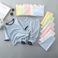 儿童家居服套装夏季女薄款空调服男宝宝睡衣男童内衣女童