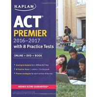 ACT Premier 2016-2017 with 8 Practice Tests: Online+DVD+Boo