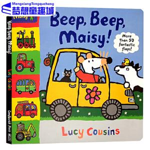 Maisy 小鼠波波系列 英文原版绘本 交通工具造型儿童纸板书 6册合售 英国版