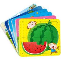 拼图2-3岁 (12张)动手动脑玩拼图2-3岁 儿童拼图小红花童书畅销书儿童拼图玩具 幼儿益智拼图 儿童玩具书籍 启蒙丛