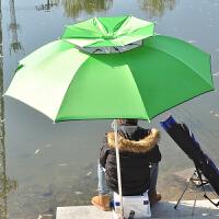 2.4米变色龙户外钓鱼伞双层加强可折叠钓伞防晒银胶布防雨轻便台钓太阳伞垂钓渔具用品 2.4米绿色