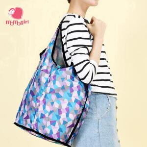 【2件2.9折,1件3.5折】momogirl环保袋大容量折叠包轻便皮肤包手提包时尚清新便携购物袋M0284L