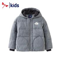 红蜻蜓男童2018新款秋冬儿童休闲棉衣中大童童装保暖时尚外套