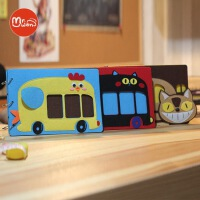 Mr.wan 梦想旅行BUS巴士拍立得diy手工粘贴式宝宝成长纪念册 相册
