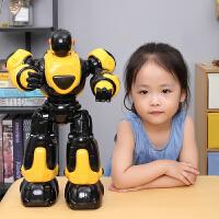 电动玩具男孩炫舞警儿童6岁早教手势遥控机器人