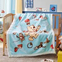绚典家纺 宝宝婴儿卡通毛毯子儿童毛毯 双层加厚拉舍尔盖毯 空调毯