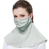 口罩防晒透气护颈女夏季薄款防紫外线防尘面罩开车全脸遮阳可清洗