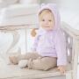 davebella小熊男女宝宝春装婴儿珊瑚绒拉链衫外套