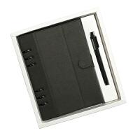 新品包邮A5活页笔记本文具皮面商务办公6孔记事本日记本可定制
