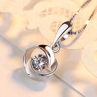 铂金项链 女友礼物项链 百搭珠宝首饰 钻石吊坠女款
