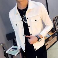 春秋季韩版潮流修身精神小伙牛仔夹克男帅气工装外套男士潮牌上衣