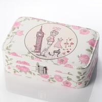 手饰收纳盒珠宝盒简约耳钉戒指盒首饰盒皮革公主欧式饰品盒
