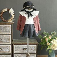 新款童毛衣针织开衫 女童宽松长袖休闲外套