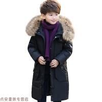 冬季儿童羽绒服男童中长款2018新款中大童韩版洋气加厚男孩童装冬外套秋冬新款
